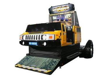 China Hummer Car Racing Arcade Game Machines , Metal Commercial Gaming Machines supplier