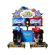 China Coin Operated Racing Arcade Machine For Indoor Sport Amusement Parkour Motor supplier