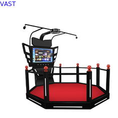 China 9D Walking Virtual Reality Simulator Platform Arcade Game Machine HTC VIVE VR Treadmill supplier