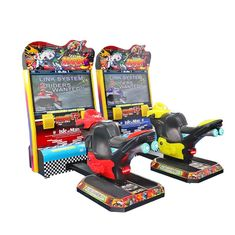 China Indoor 42'' Lcd TT Racing Motor Arcade Game Machine For Child 5~12 Years Old supplier