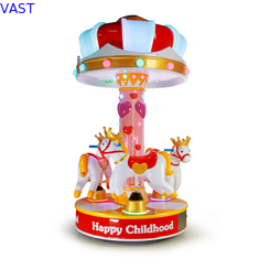 China 3 People Amusement Kids Ride Indoor Outdoor Playground Merry - Go - Round  Small Carousel supplier