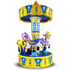 China Kids Arcade Horse Racing Game Machine / Baby Toys Coin Operated Carousel Kiddie Rides supplier