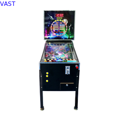 China Wood Material Virtual Pinball Machine With 300+ Games Black Color supplier