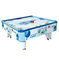 China Square Cube Electronic Air Hockey Table Game Machine For 2 Players supplier