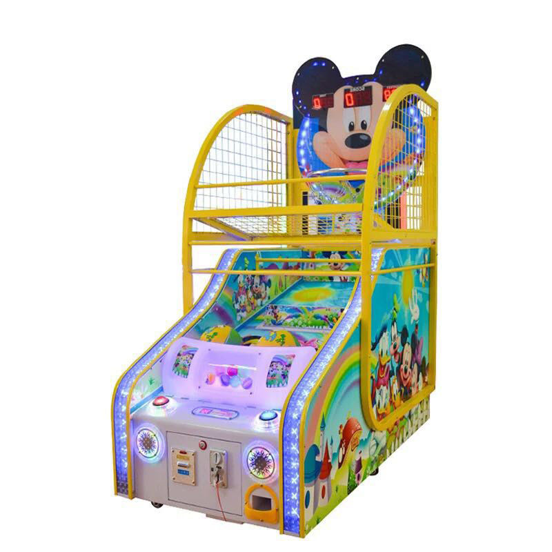 children Basketball Shooting Game Machine Coin Pusher L160 * W80 * H220CM size