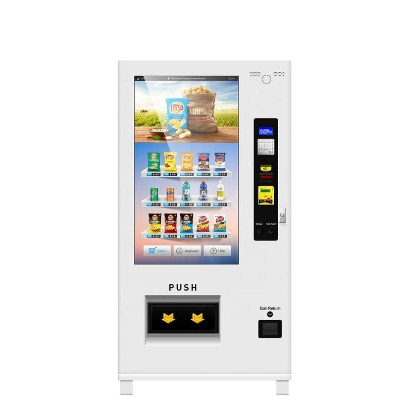 Coin Operated Self Service Vending Machine With Touch Screen Fully Drinks Based