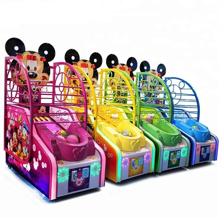 Arcade Mickey Basketball Shooting Game Machine Metal Cabinet Firm And Durable