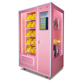 Automatic Soft Drink Vending Machine , 24 Hours Pink Sweet Commercial Vending Machine