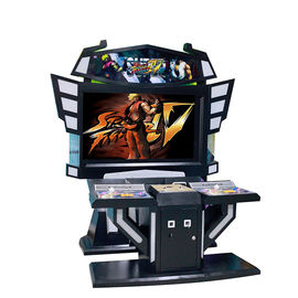 55 LCD Multi Video Arcade Machine , Coin Pusher Video Game System Cabinet