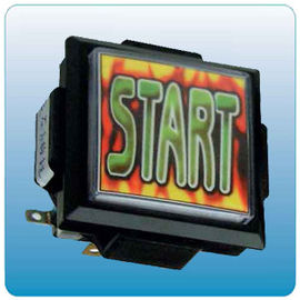 China Start Push Button Arcade Game Machine Parts With Micro Switch 60mm X 60mm Size factory