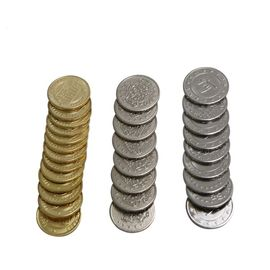 Round Arcade Game Machine Parts Stainless Steel / Copper Token Coin With Logo