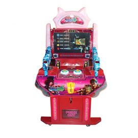 China Metal Kids Arcade Machine , Dozen Hero Gun Shooting Tickets Redemption Arcade Simulator factory
