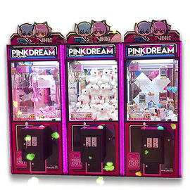 PVC Material Dream Doll Claw Machine With LED Light / Arcade Crane Machine