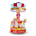 3 People Amusement Kids Ride Indoor Outdoor Playground Merry - Go - Round  Small Carousel