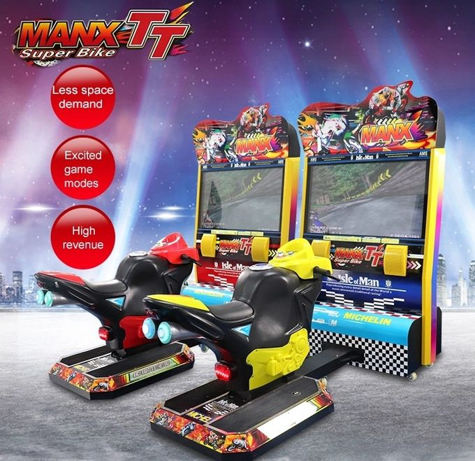 Indoor 42'' Lcd TT Racing Motor Arcade Game Machine For Child 5~12 Years Old