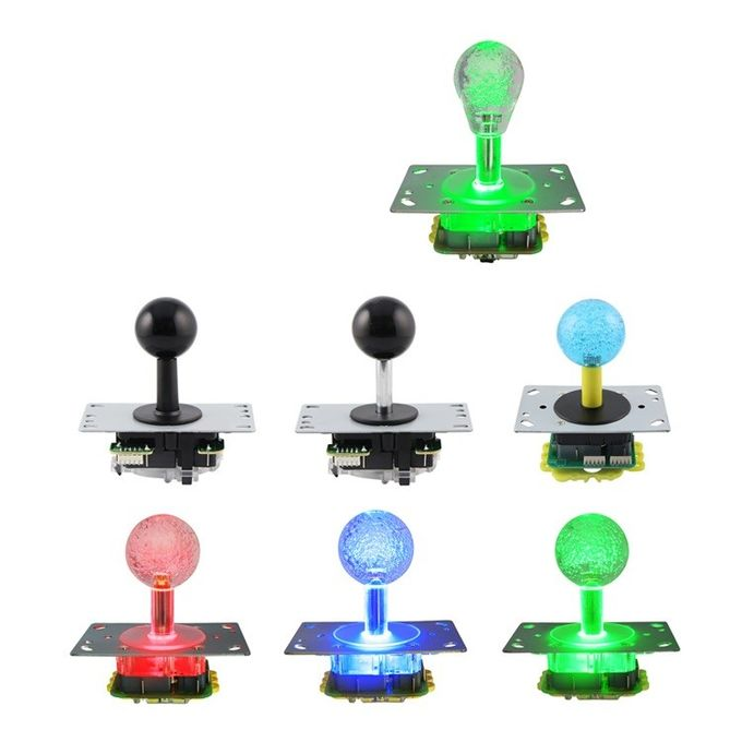 Micro Switch Way Arcade Game Machine Joystick Red / Yellow / Green Color