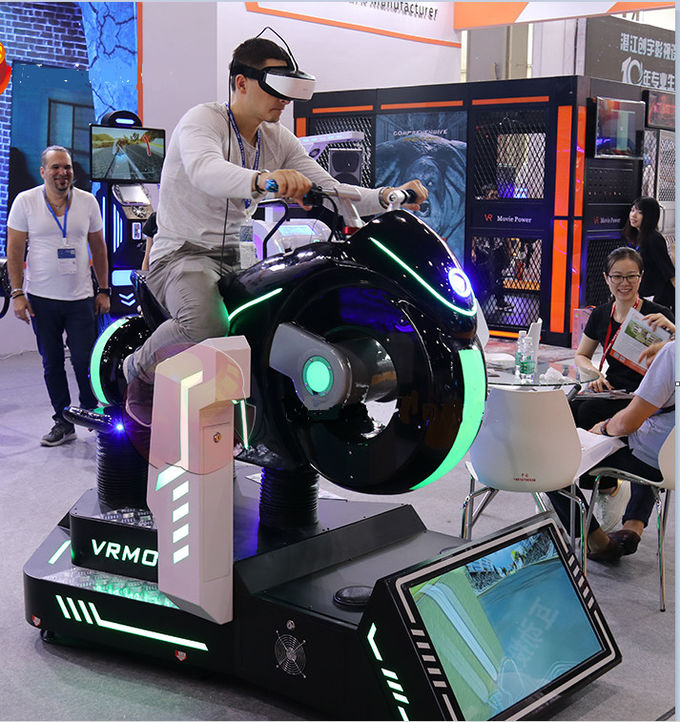 Racing Roller Coaster 9D VR Chair VR Remote Movie Power For Shopping Mall