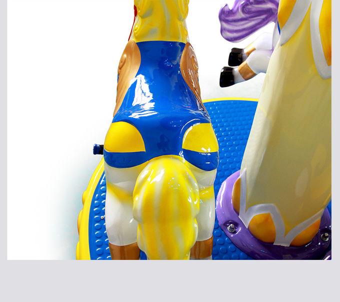 Kids Arcade Horse Racing Game Machine / Baby Toys Coin Operated Carousel Kiddie Rides