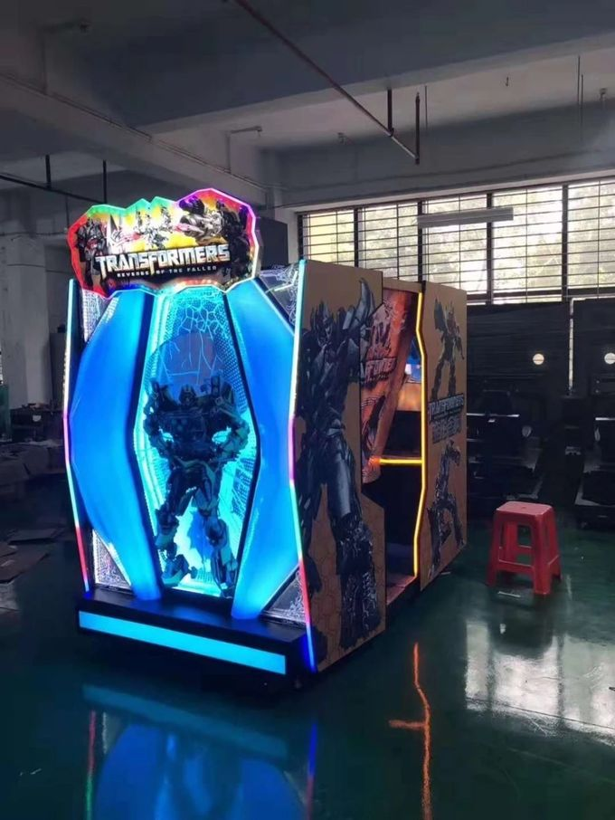 Transformer Video Game Machine / Shooting Game Cabinet In Amusement Park