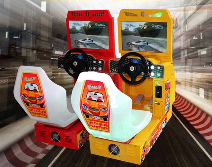 Mini 22 Lcd Driving Simulator Arcade Machine For Kids In Kindergarten
