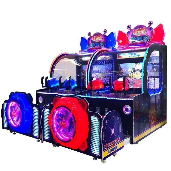 Ball Shooting Ticket Redemption Arcade Machines / Monster Aliens Water Shooting Games