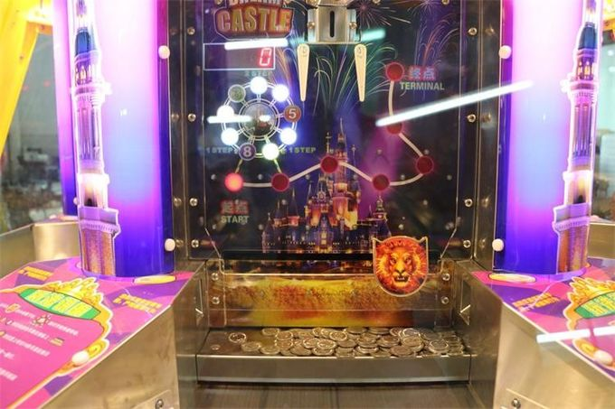 6 Players Dream Castle Pinball Game Machine Coin Pusher Metal + Acrylic + Plastic Material