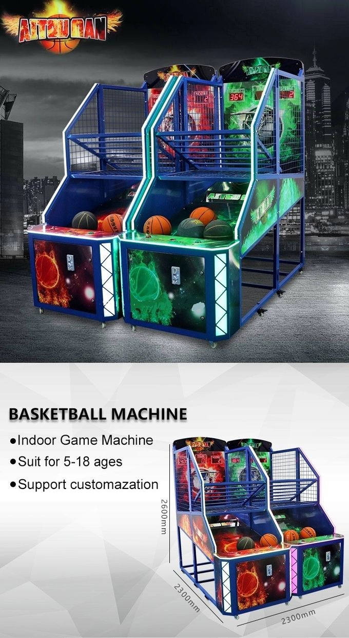 Commercial Street Basketball Shooting Game Machine 12 Months Warranty