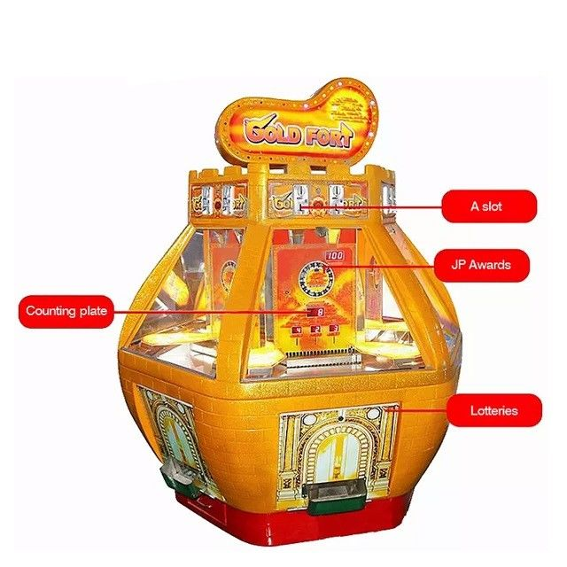 Six Players Redemption Arcade Machines Win Prize Lottery Customize Color