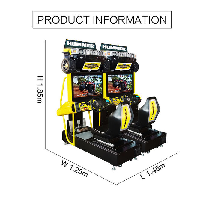 Yonee Car Racing Arcade Machine 1060 * 700 * 1840mm Size For 1 - 2 Players 0