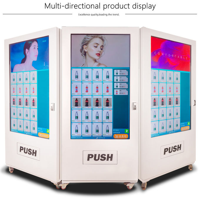 55 Inch LCD Touch Screen Self Service Vending Machine Coin Operated For Drinks