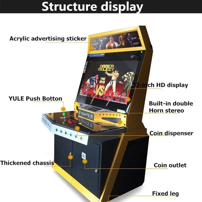 Coin Operated Fighting Arcade Video Game Machine Pandora Box 5 Arcade Cabinet