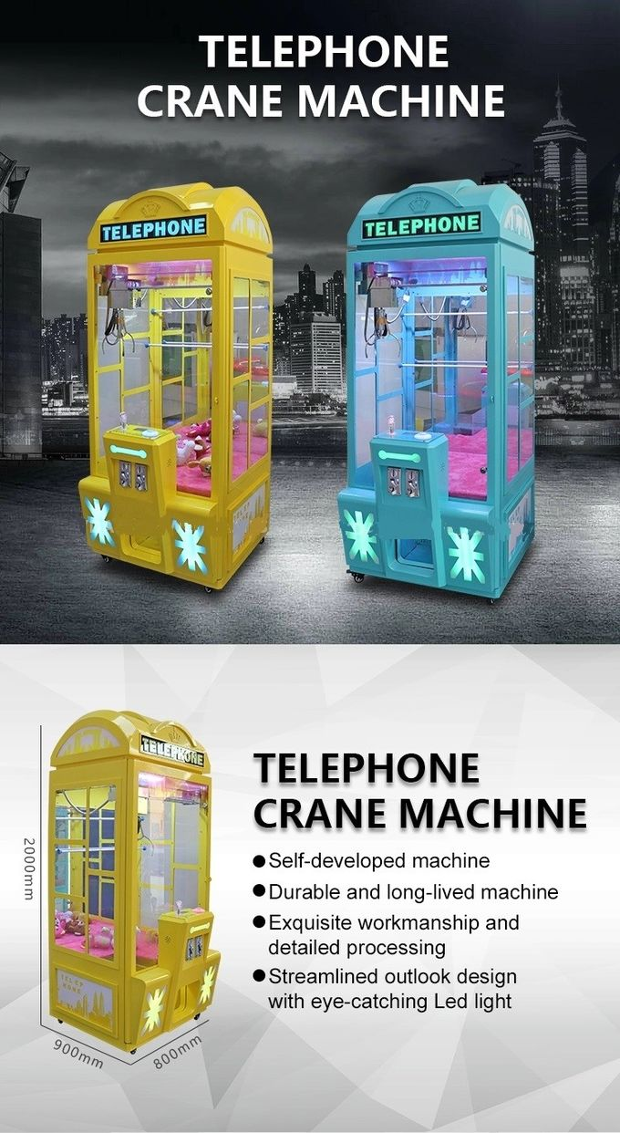 Telephone Small Gift Vending Machine Metal Material 110 / 220V Voltage