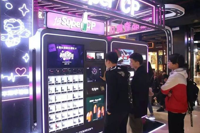 220V Makeup Coin Vending Machine , Self Service Lipstick Vending Machine